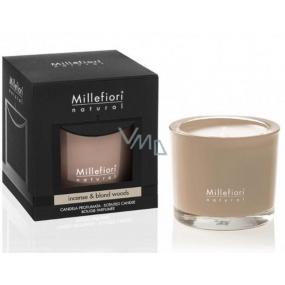 Millefiori Milano Natural Incense & Blond Woods - Kadidlo a světlá dřeva Vonná svíčka hoří až 60 hodin 180 g