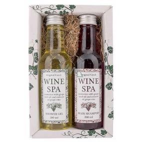 Bohemia Gifts Wine Spa Vinná kosmetika Hroznový olej a extrakt z vinné révy sprchový gel 200 ml + šampon na vlasy 200 ml kosmetická sada