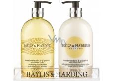 Baylis & Harding Mandarinka a Grapefruit tekuté mýdlo 500 ml + mléko na ruce 500 ml, kosmetická sada