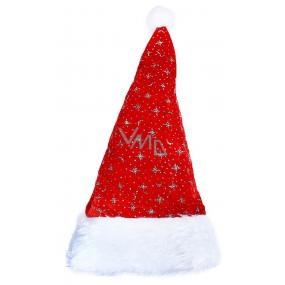 Mikuláš / Santa vánoční čepice stříbrné hvězdy