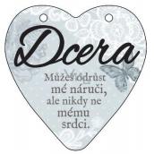 Albi Závěsná plaketka srdce Dcera 9 x 10 cm