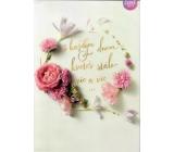 Albi Hrací přání do obálky S každým dnem kveteš, Růže kvetou dál Helena Vondráčková 15 x 21 cm