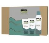 RockFace Extra Hydrating gel na holení pro muže 200 ml + Energising mycí gel na tvář 150 ml + Sensitive Moisturiser krém pro citlivou mužskou pleť 100 ml, kosmetická sada