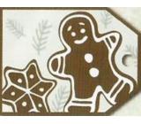 Nekupto Vánoční kartičky na dárky perník 5,5 x 7,5 cm 6 kusů