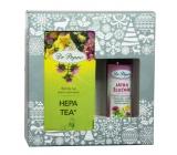 Dr. Popov Dobré trávení Játra – žlučníkoriginální bylinné kapky 50 ml + Hepa tea bylinný čaj s obsahem hořčin 30 g - 20 nálevových sáčků, vánoční dárková sada