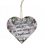 Bohemia Gifts & Cosmetics Dřevěné dekorační srdce s potiskem - Pane učiteli, děkuji 12 cm