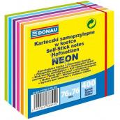 Donau Samolepicí bločky neon-pastelové barvy 76 x 76 mm, 400 listů