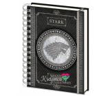 Epee Merch Hra o Trůny Game of Thrones - Stark Blok A5 21 x 15 cm kroužkový linkovaný