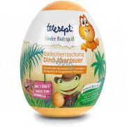 Tetesept Dinosauři šumivá koule - vejce do koupele s figurkou dinosaura 140 g