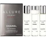 Chanel Allure Homme Sport Eau Extréme parfémovaná voda náhradní náplň pro muže 3 x 20 ml