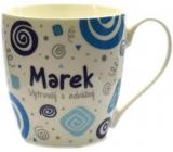 Nekupto Twister hrnek se jménem Marek modrý 0,4 litru 043 1 kus
