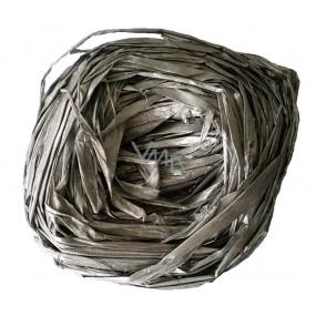 Raffia stříbrná nabarvené lýko k dekoraci 30 g