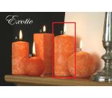 Lima Mramor Exotic vonná svíčka oranžová válec 60 x 120 mm 1 kus