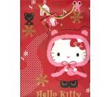 Nekupto Dárková papírová taška 23 x 18 x 10 cm Hello Kitty Vánoční 1192 WLGM