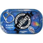 If Tin of Sardines Page Markers Záložky do knihy 50 Sardinek 45 x 0,5 x 20 mm