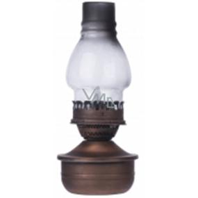 Emos Lampa kovová 1 LED teplá bílá + časovač 16 x 32 cm