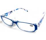 Berkeley Čtecí dioptrické brýle +2 plast světle modré stranice s obdelníky 1 kus MC2084