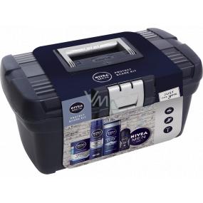 Nivea Men Protect & Care Kit voda po holení 100 ml + gel na holení 200 ml + sprchový gel 250 ml + antiperspirant deodorant roll-on 50 ml + krém 150 ml + box, kosmetická sada pro muže