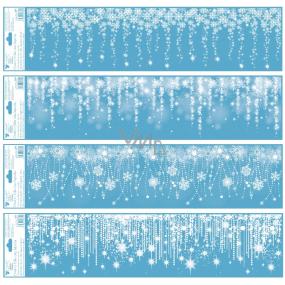 Okenní fólie bez lepidla pruh Padající záře s glitry 64 x 15 cm