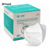 Respirátor ústní ochranný 4-vrstvá FFP2/KN95 obličejová maska AK-3356 20 kusů