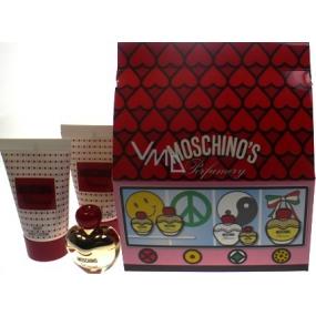 Moschino Glamour parfémovaná voda pro ženy 5 ml + telové mléko 25 ml + sprchový gel 25 ml, dárková sada