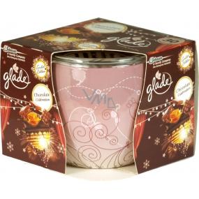 Glade by Brise Chocolate Celebration vonná svíčka ve skle doba hoření až 30 hodin 120 g
