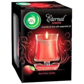 Air Wick Eternal Scents Rubínově červená jablka vonná svíčka ve skle 130 g