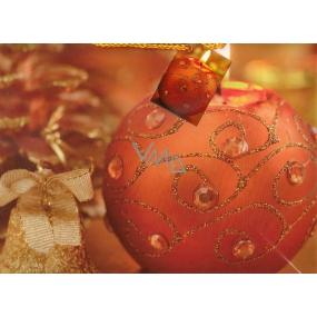 Nekupto Dárková papírová taška střední 713 01 WBP Červeno hnědá se svíčkou 32,5 x 25,5 x 13 cm
