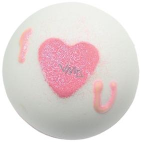Bomb Cosmetics Třpytivé srdce - Heart That Glitters Šumivý balistik do koupele 160 g