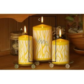 Lima Savana svíčka žlutá válec 80 x 150 mm 1 kus