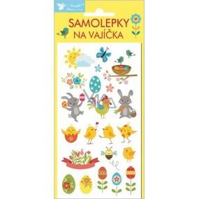 Samolepky na vajíčka velikonoční nové gelové veselé velikonoce č.1 19 x 9 cm