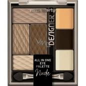 Miss Sporty Designer All in One Eye Palette paleta očních stínů 100 Nude Designer 9,5 g