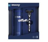 Gillette Mach3 holící strojek + náhradní hlavice 1 kus + gel na holení 200 ml, kosmetická sada
