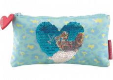 Miquelrius Pouzdro na psací potřeby modré se srdcem 22,5 x 11,5 x 1 cm