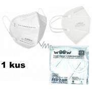 Woow Respirátor ústní ochranný 5-vrstvý FFP2 obličejová maska 1 kus