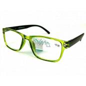 Berkeley Čtecí dioptrické brýle +3,0 plast průhledné zelené, černé stranice 1 kus MC2166