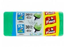 Fino Color Sáčky do odpadkového koše s uchy zelený 8 µm, 35 litrů, 49 x 60 cm, 30 kusů