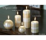 Lima Elegance White svíčka béžová 60 x 90 mm 1 kus