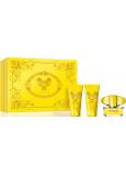 Versace Yellow Diamond toaletní voda 50 ml+ sprchový gel 50 ml + tělové mléko 50 ml, dárková sada pro ženy
