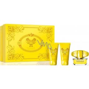 Versace Yellow Diamond toaletní voda 50 ml+ sprchový gel 50 ml + tělové mléko 50 ml, dárková sada