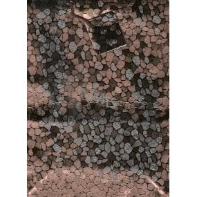 Nekupto Dárková papírová taška velká 053 62 GL hnědá lesklá 23 x 18 x 10 cm