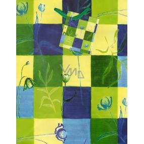 Nekupto Dárková papírová taška střední 1046 50 BM zelené, žluté, modré kostky 23 x 18 x 10 cm
