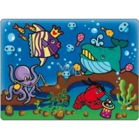 Magické malování vodou se štětcem Mořský svět 20 x 15 cm
