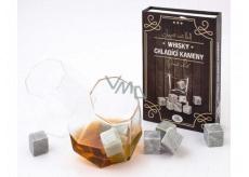 Albi Chladící kameny do Whisky, 9 chladících kamenů a sametový váček pro skladování