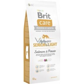 Brit Care Grain-free Senior & Light Salmon & Potato bezobilné krmivo pro starší psy všech plemen 12 kg