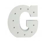 Nekupto Dřevěné LED písmeno G dekorace 16 cm NLE 007