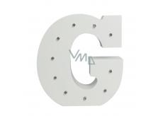 Nekupto Dřevěné LED písmeno G dekorace 16 cm