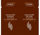 Ziaja Kakaové máslo vyhlazující šampon na vlasy 7 ml + vyhlazující maska na vlasy 7 ml, sachet