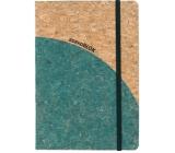 Albi Korkoblok linkovaný Zeleno zlatý 80 stran 14,7 x 21 x 1,5 cm