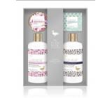 Baylis & Harding Lesní zvonek a Květinová louka mycí gel 300 ml + sprchový krém 300 ml + toaletní mýdlo 150 g + tělové máslo 100 ml, kosmetická sada